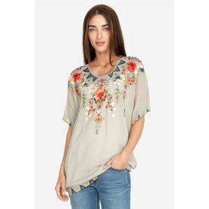 Johnny Was Tamaya Floral Embroidered Tunic